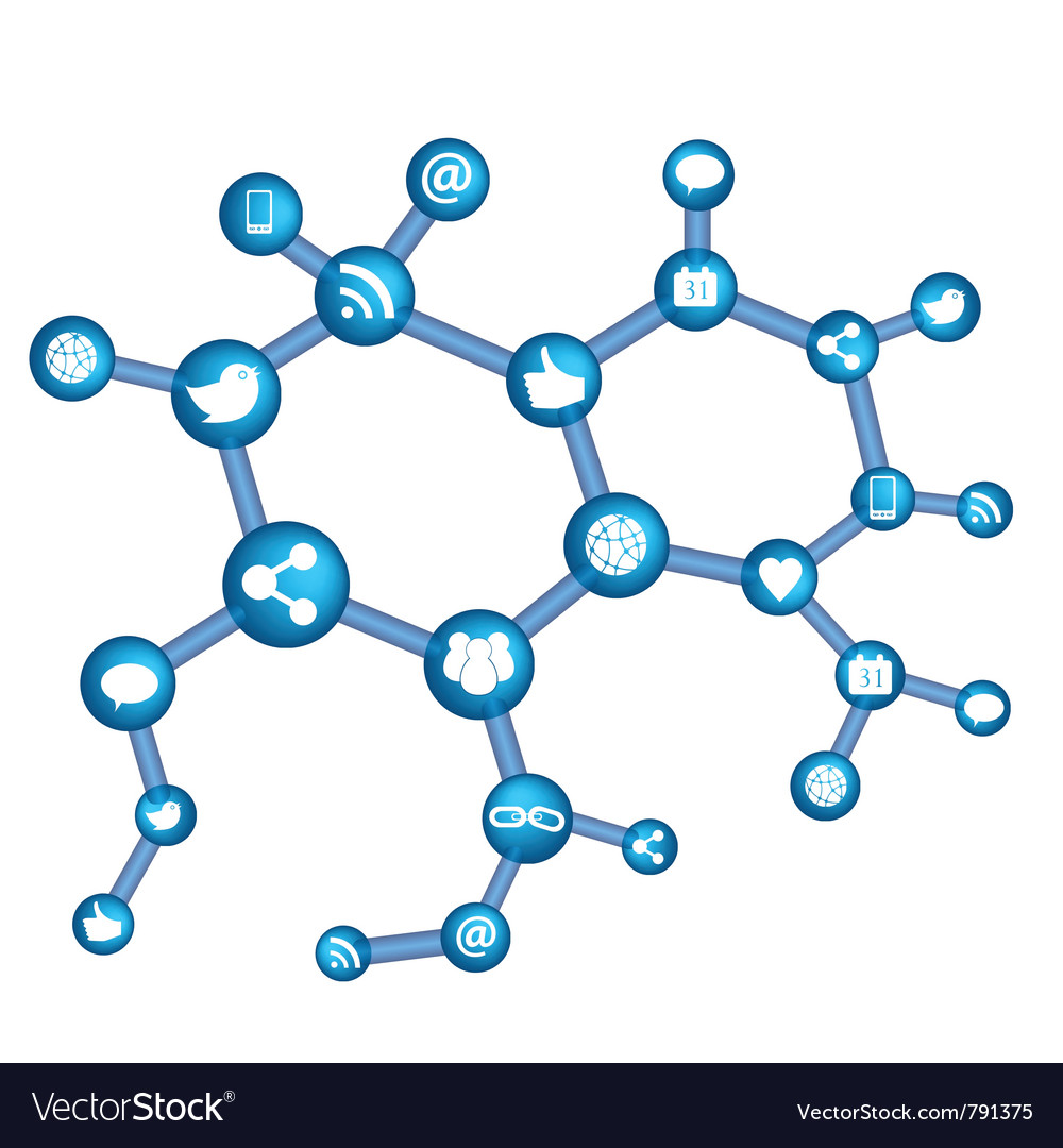Online networking vector | Price: 1 Credit (USD $1)