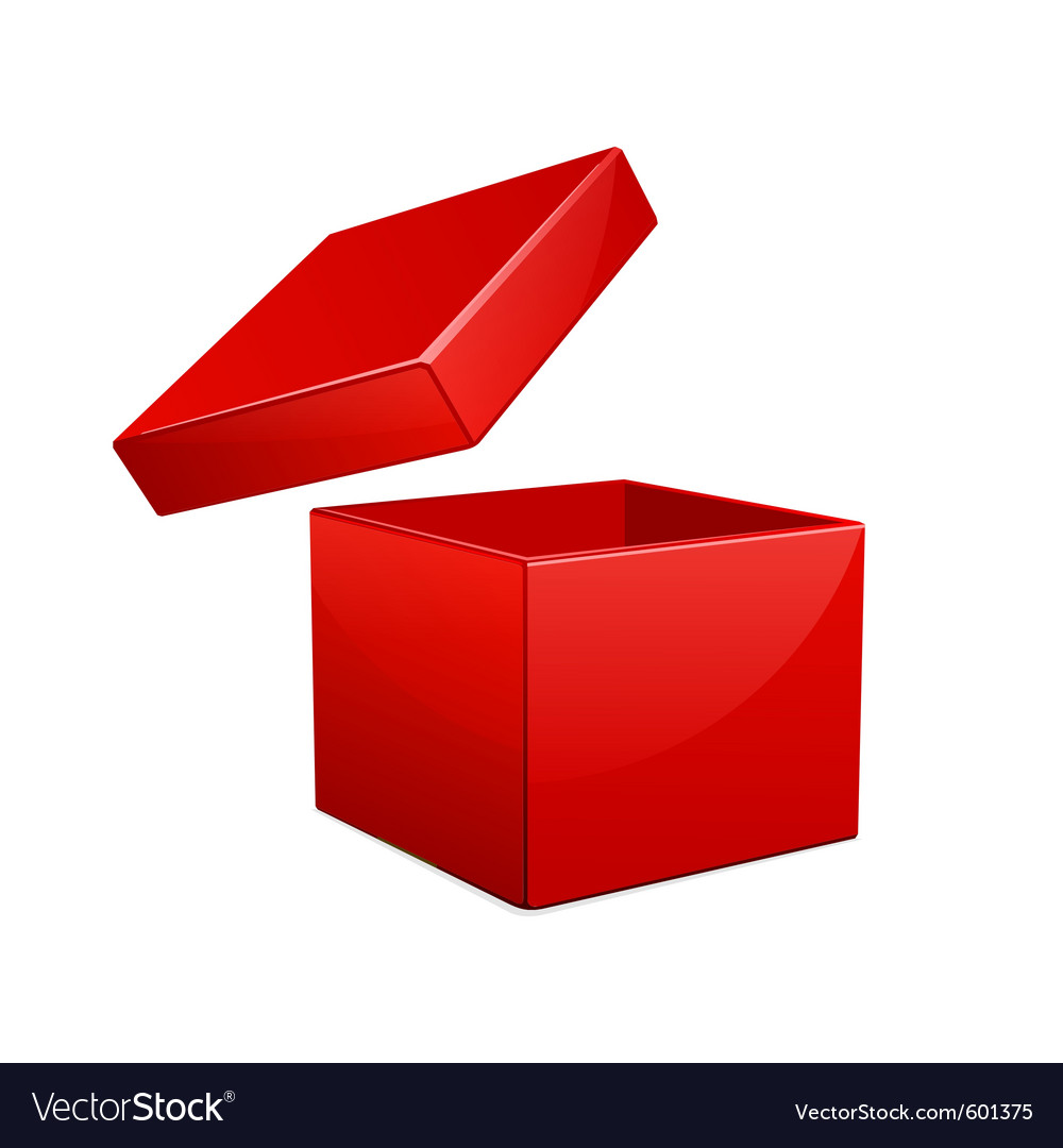 Open red gift box vector | Price: 1 Credit (USD $1)
