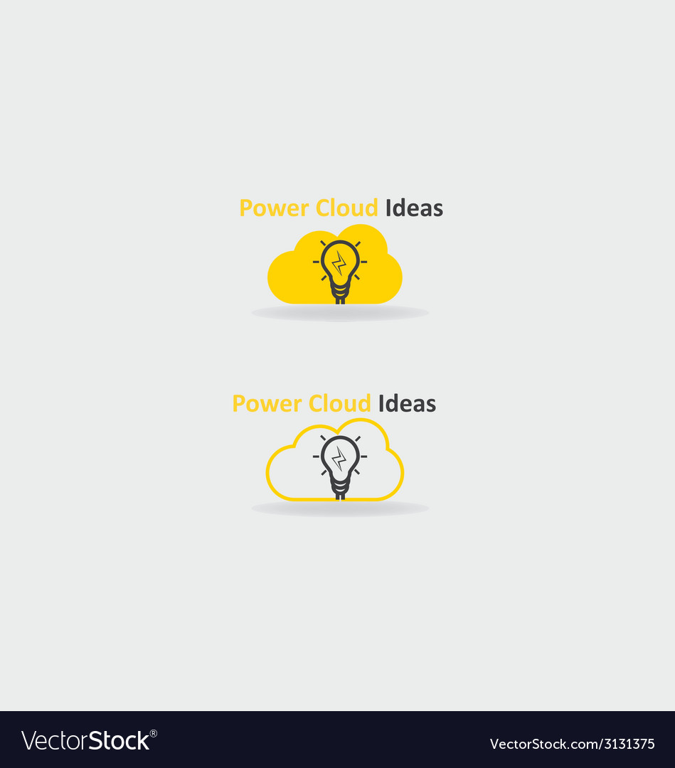 Power cloud ideas vector | Price: 1 Credit (USD $1)