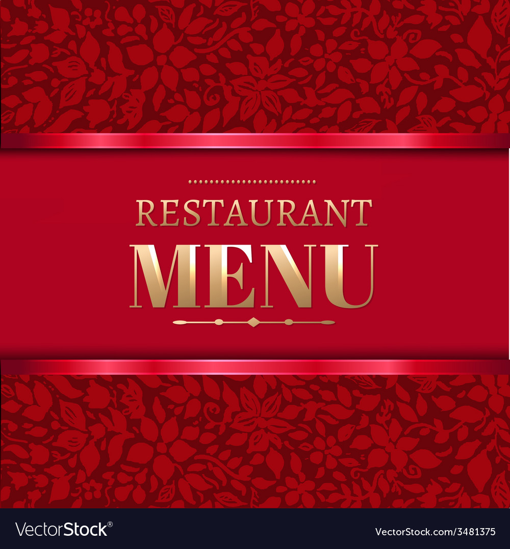 Red restaurant menu vector | Price: 1 Credit (USD $1)