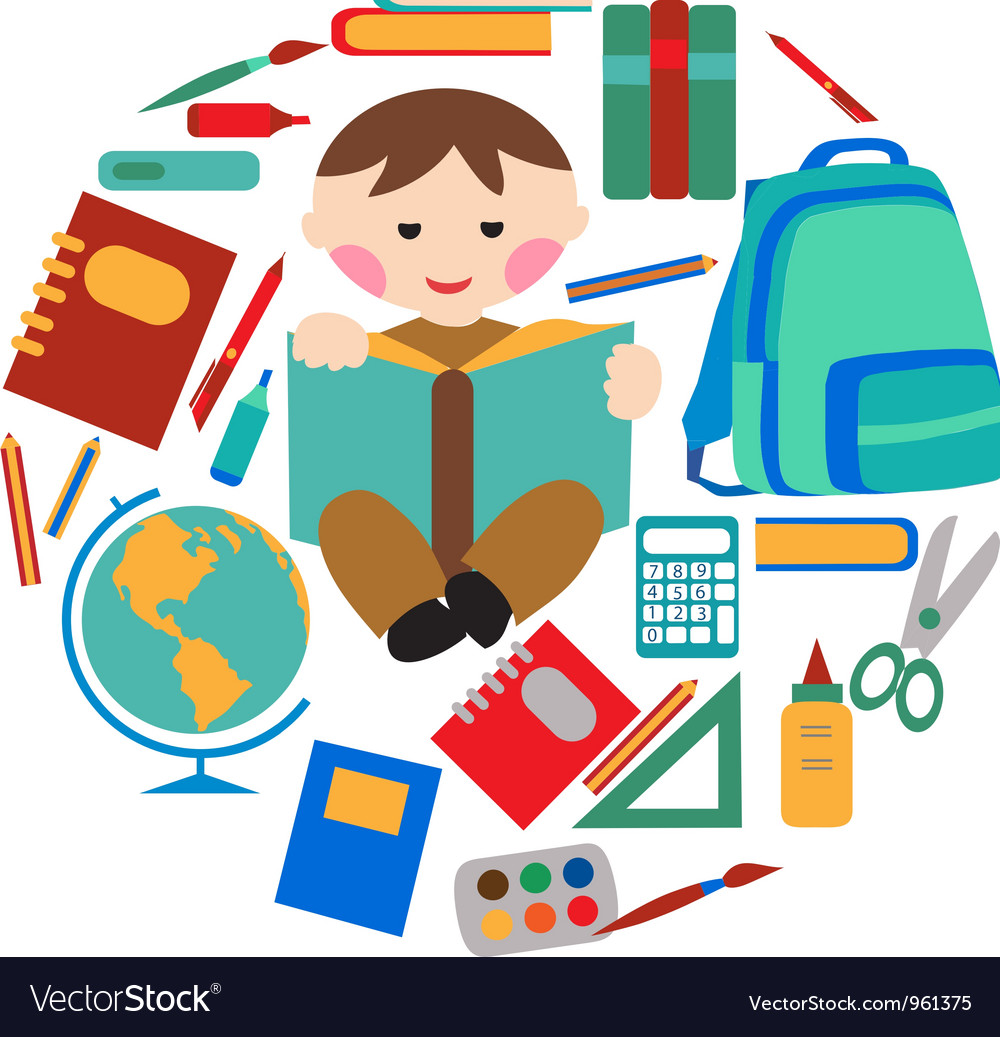 School and office supplies vector | Price: 1 Credit (USD $1)