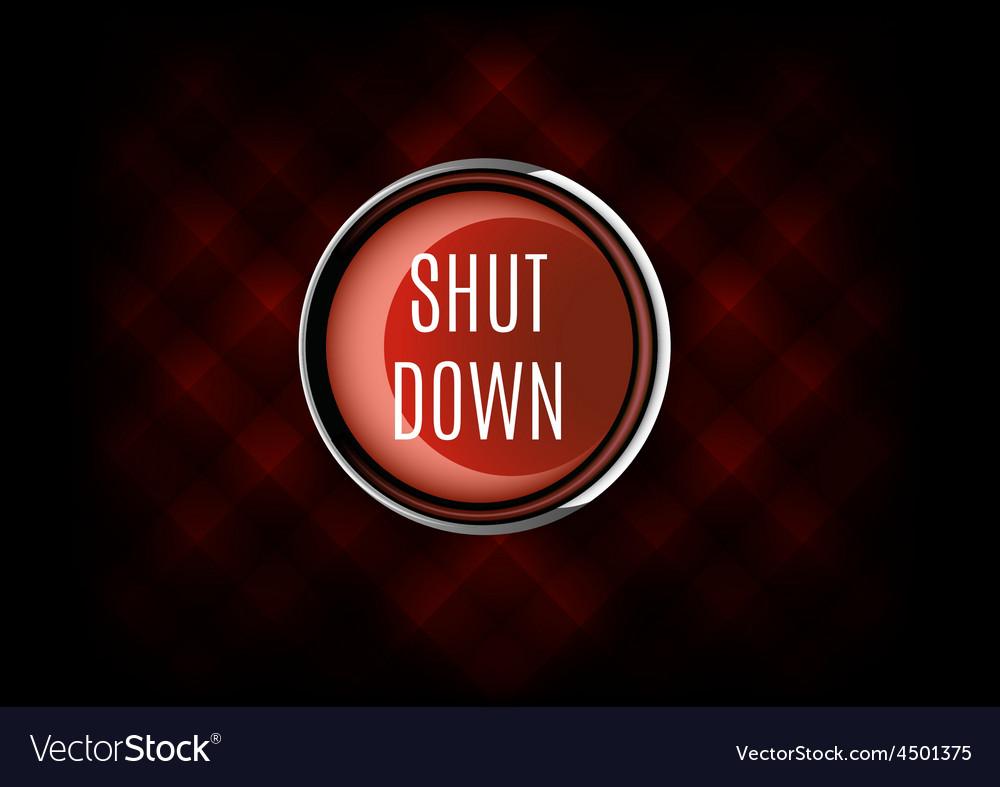 Shut down button vector | Price: 1 Credit (USD $1)