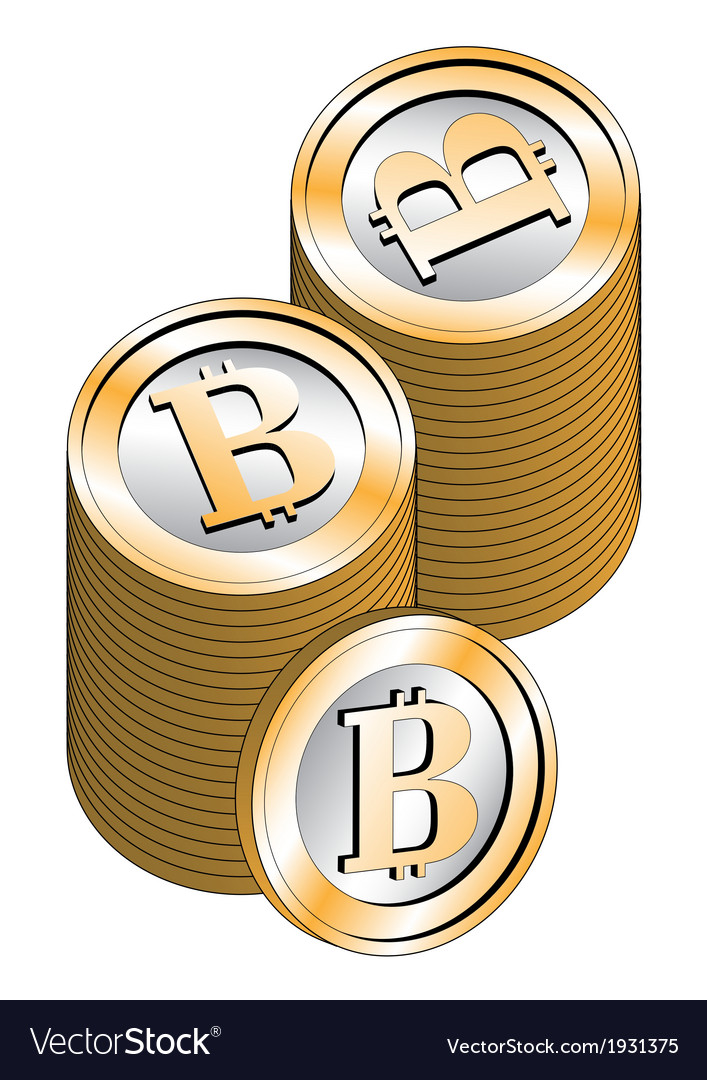 Stacked bitcoins vector | Price: 1 Credit (USD $1)