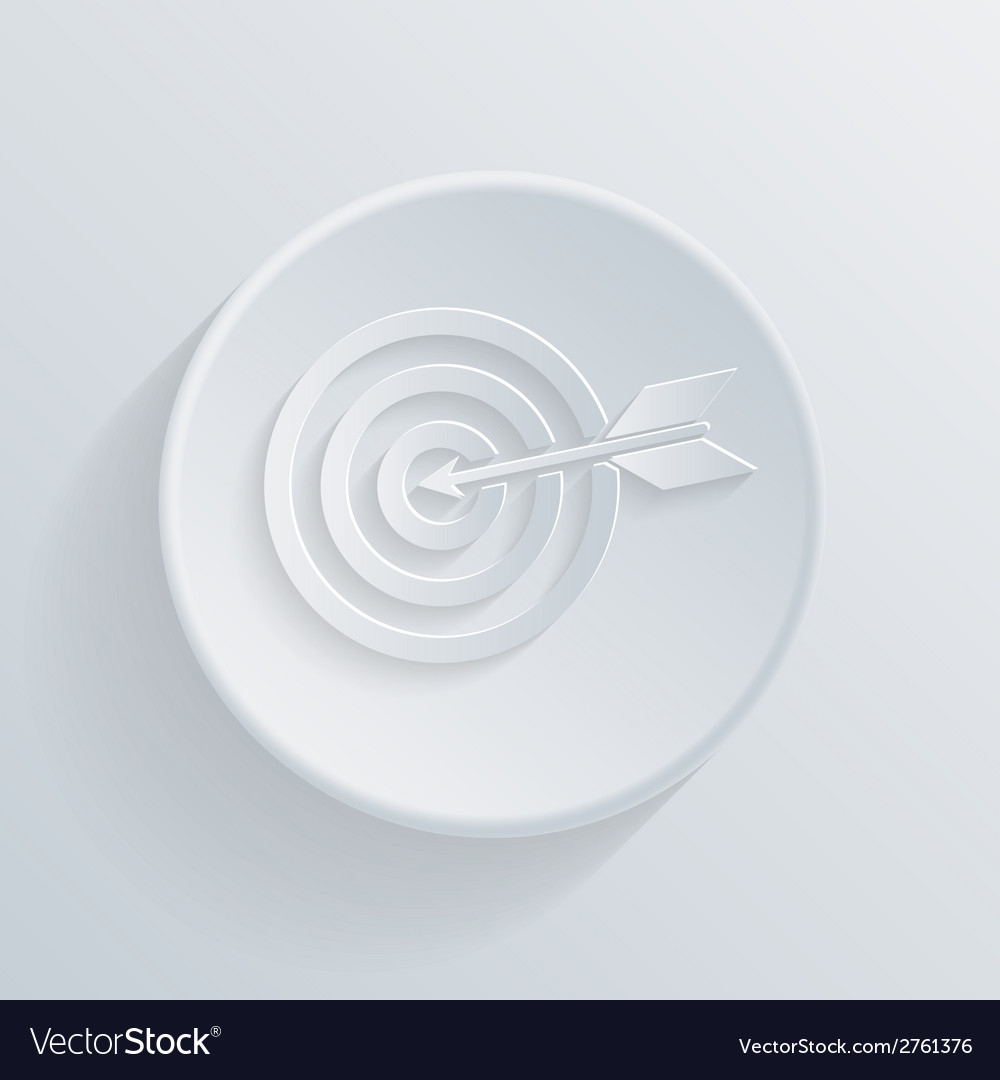 Circle flat icon with a shadow target vector   Price: 1 Credit (USD $1)