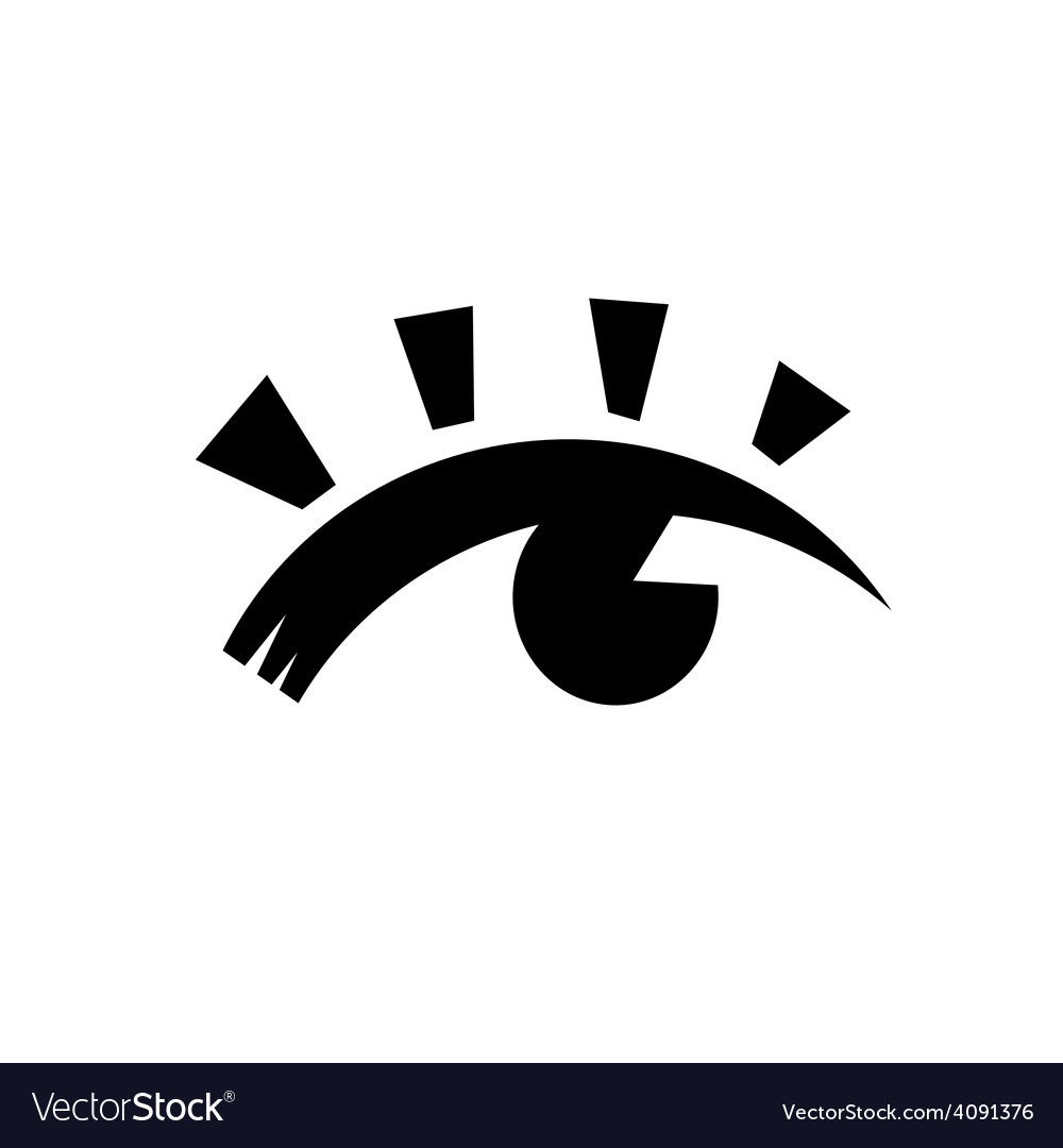 Eye black vector | Price: 1 Credit (USD $1)