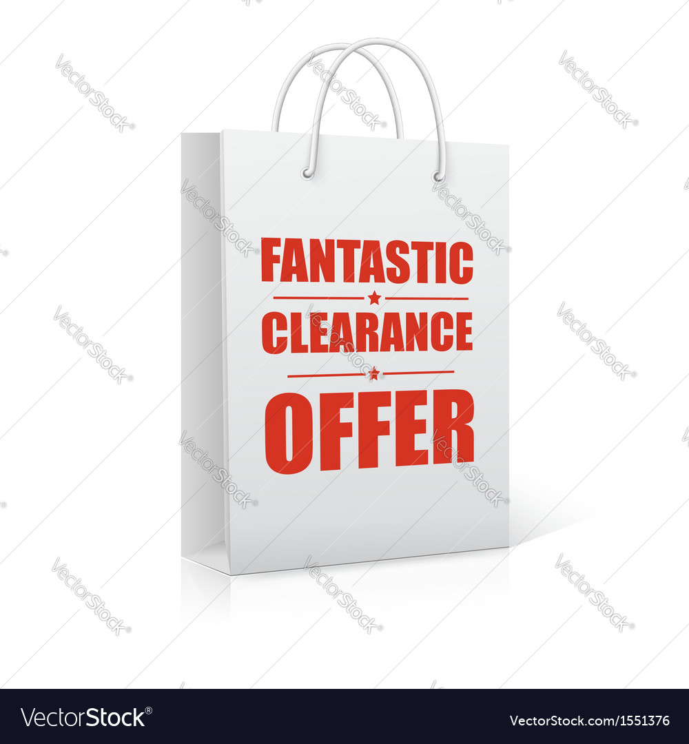 Fantastic clearance offer shopping bag vector | Price: 1 Credit (USD $1)