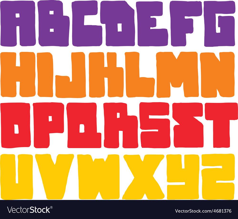 Hand drawn graffiti font alphabet vector   Price: 1 Credit (USD $1)