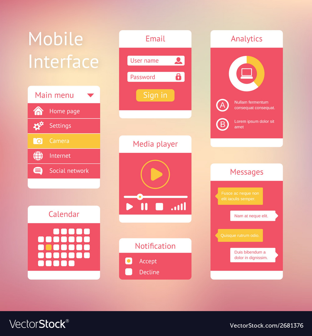 Interface elements vector | Price: 1 Credit (USD $1)