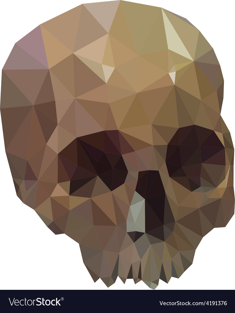 Low poly skull vector | Price: 1 Credit (USD $1)