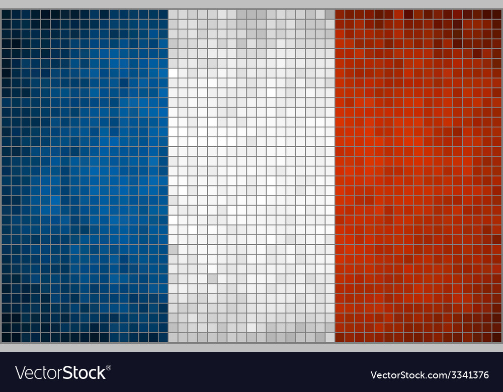 Mosaic flag of france vector | Price: 1 Credit (USD $1)