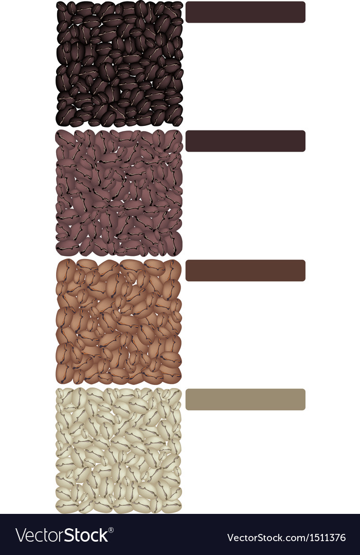 Roasted coffee beans banner vector | Price: 1 Credit (USD $1)
