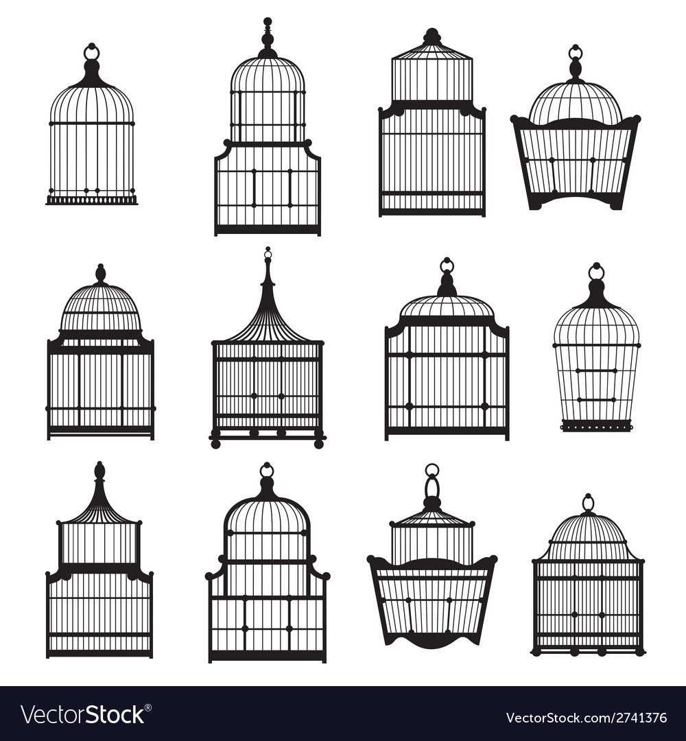 Se of vintage birdcages 03 vector | Price: 1 Credit (USD $1)