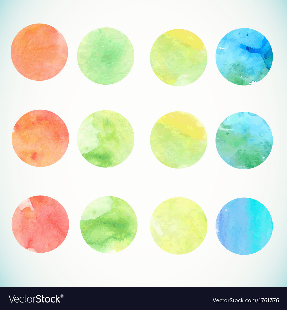 Watercolor circle design elements vector | Price: 1 Credit (USD $1)
