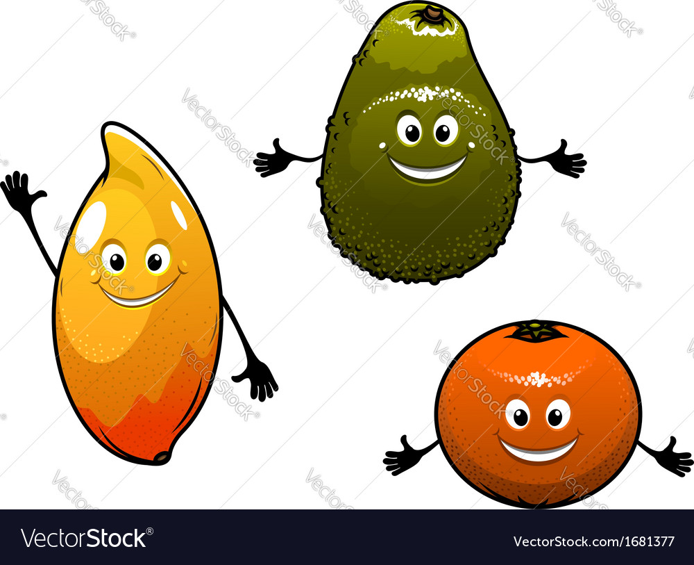Avocado mango and orange vector | Price: 1 Credit (USD $1)