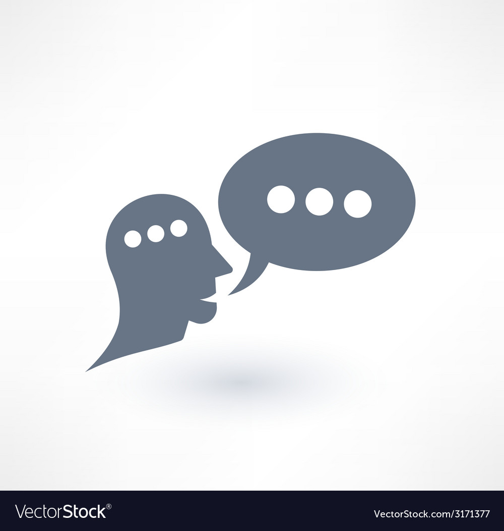 Chat dialogue and communication icon logo design vector | Price: 1 Credit (USD $1)