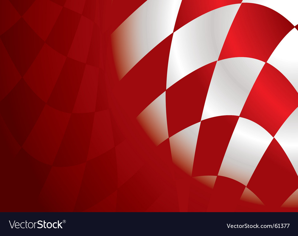 Checkered corner red vector | Price: 1 Credit (USD $1)