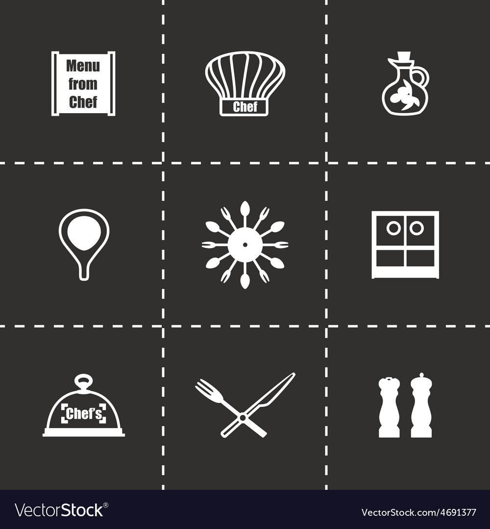 Chef icon set vector | Price: 1 Credit (USD $1)