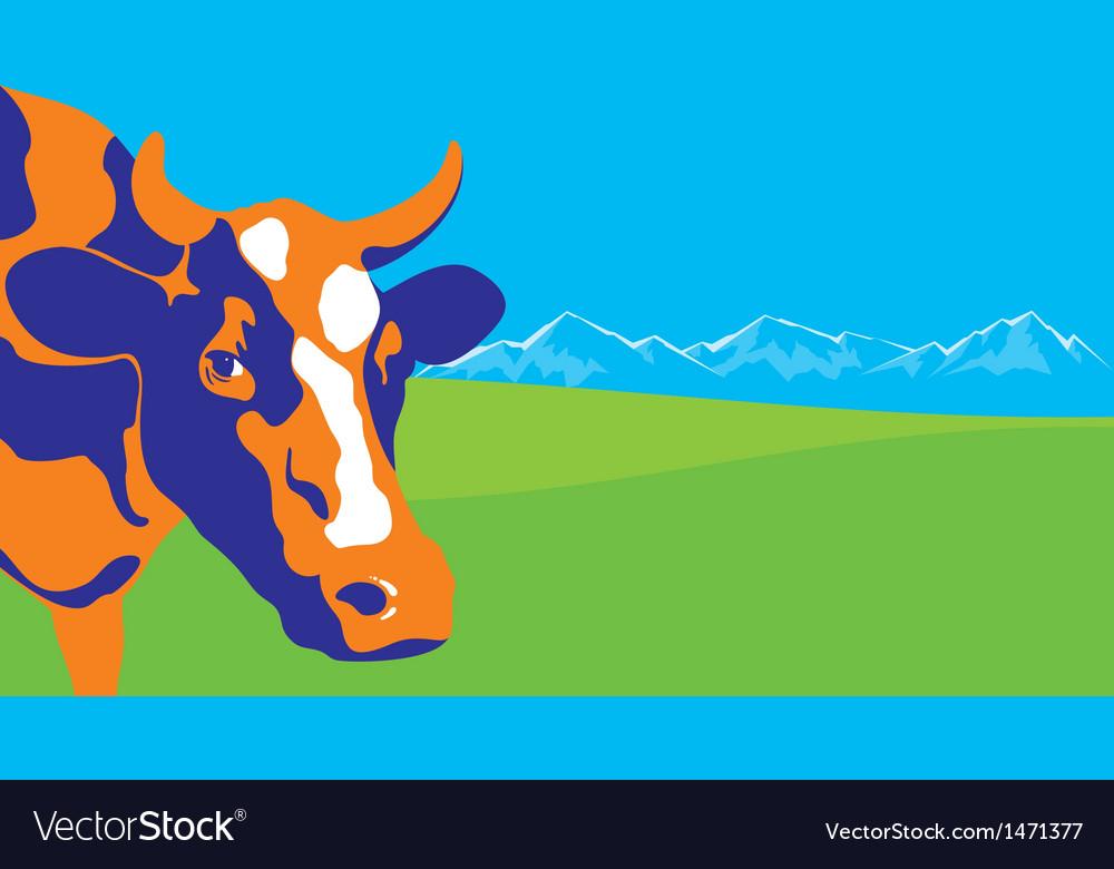 Color cow vector