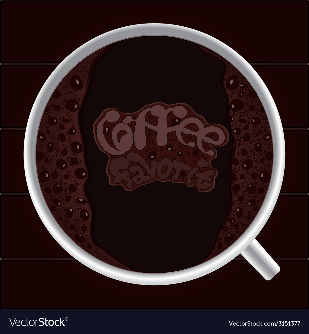 Favorite coffee vector | Price: 1 Credit (USD $1)