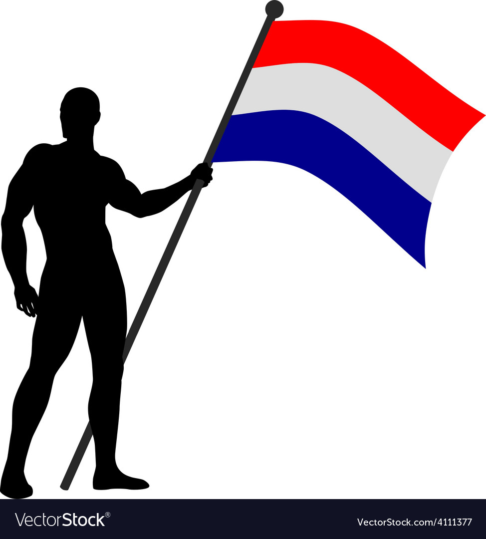 Flag bearer vector | Price: 1 Credit (USD $1)