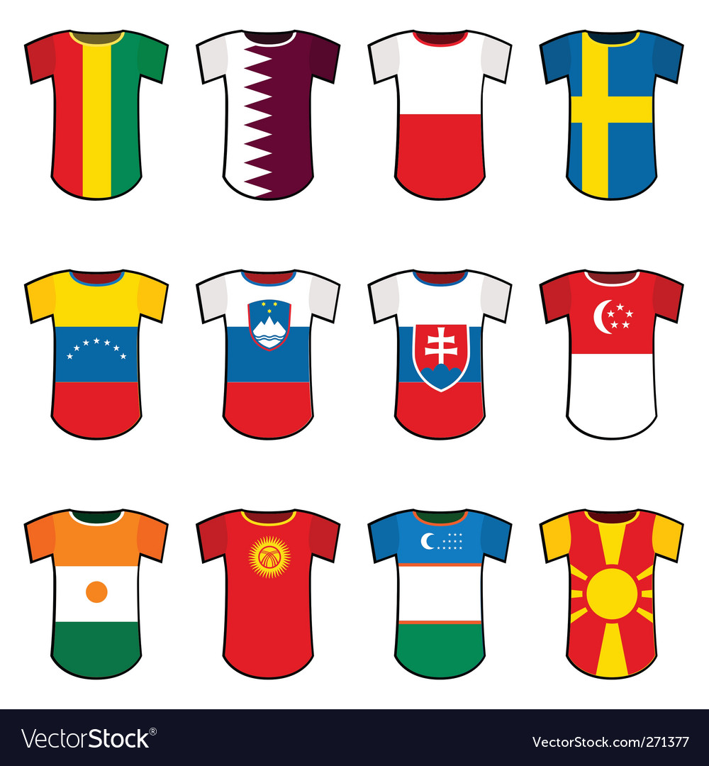 National soccer uniforms vector | Price: 1 Credit (USD $1)