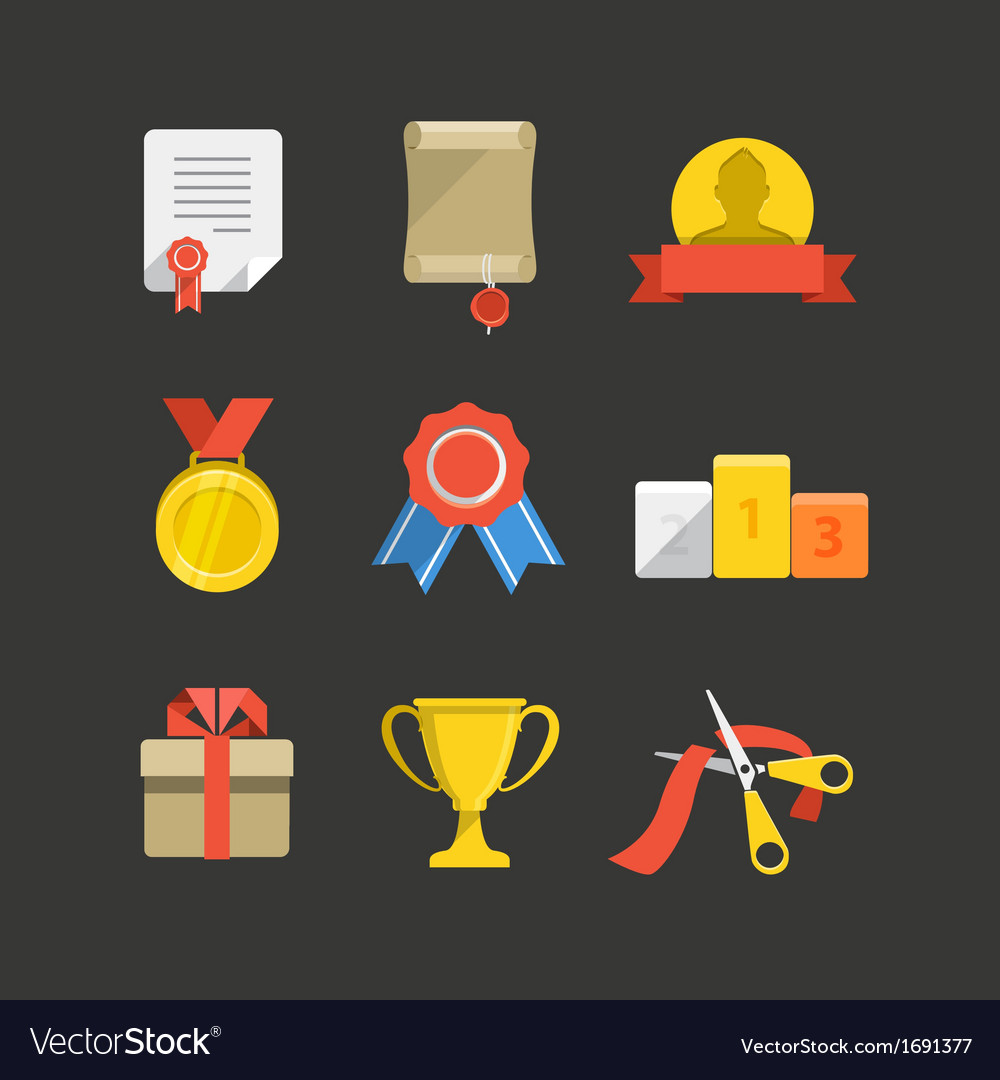 Prizes vector | Price: 1 Credit (USD $1)