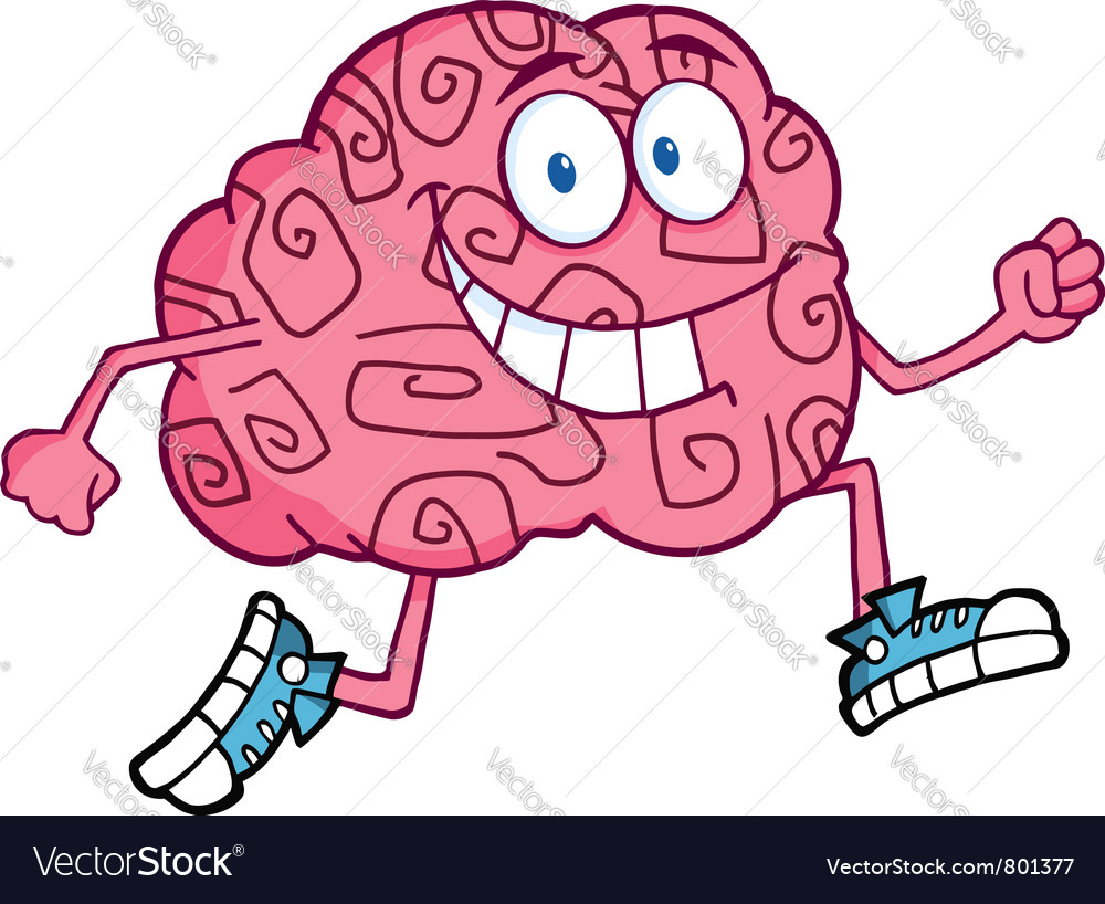 Running brain vector | Price: 1 Credit (USD $1)