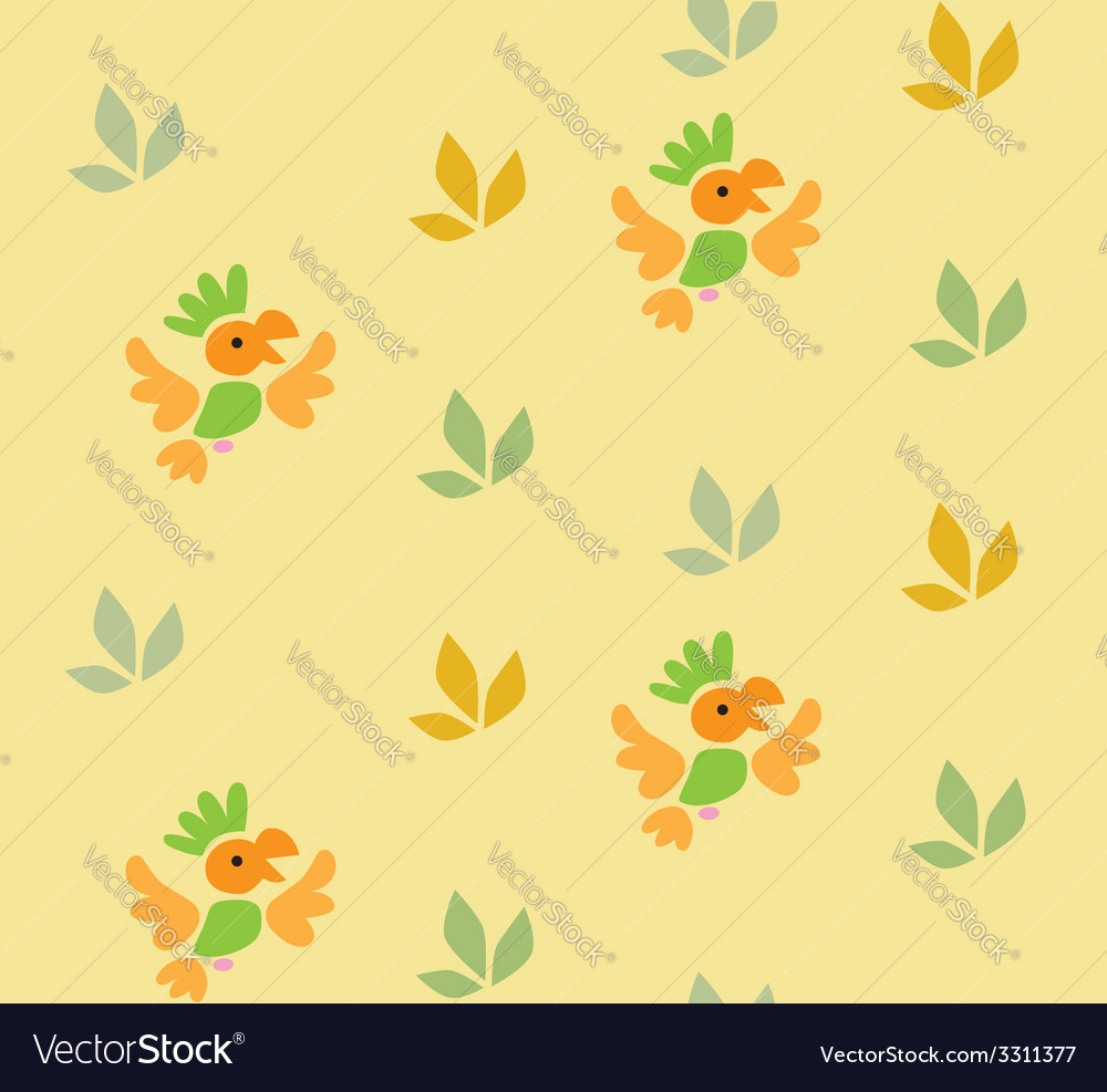 Seamless pattern with funny parrots vector | Price: 1 Credit (USD $1)