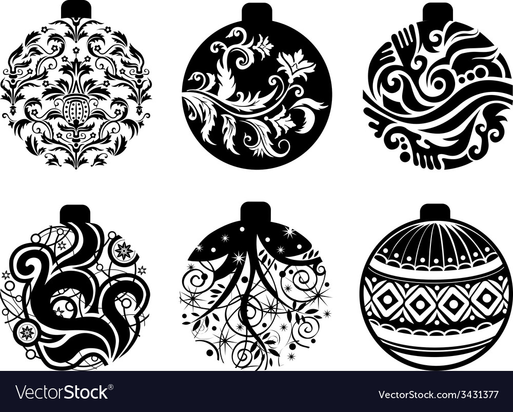 Set of christmas balls vector | Price: 1 Credit (USD $1)