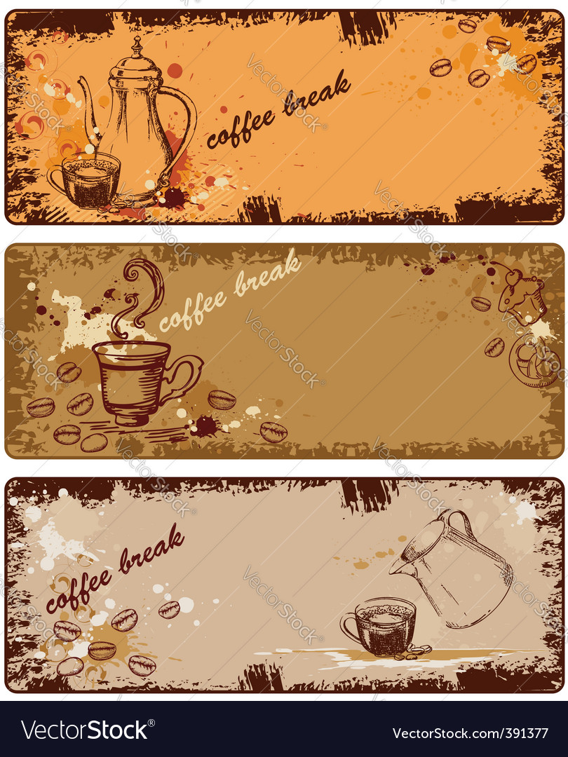 Set of coffee banners vector | Price: 1 Credit (USD $1)