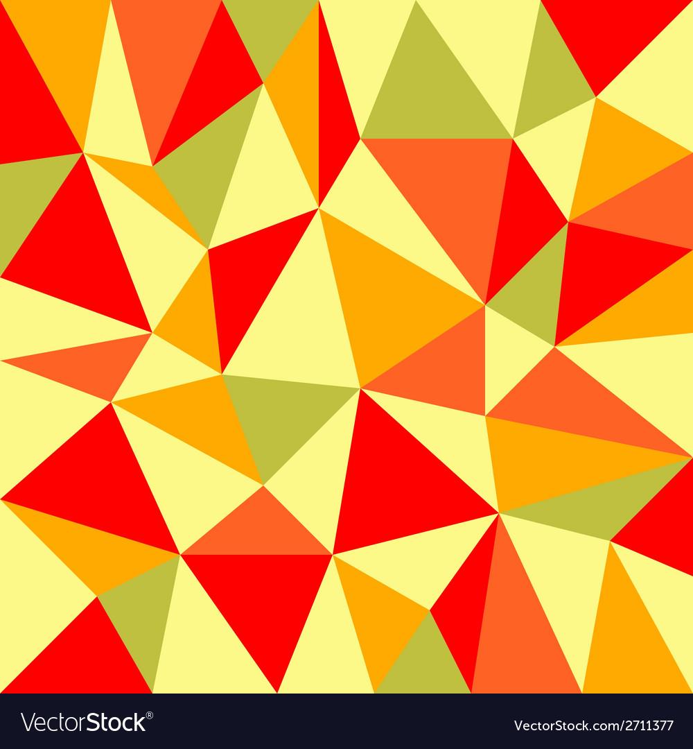 Triangular retro autumn background vector | Price: 1 Credit (USD $1)