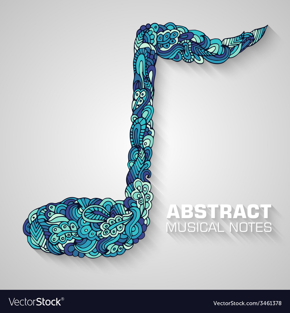 Abstract musical notes on a background conc vector | Price: 1 Credit (USD $1)