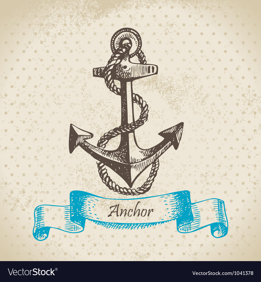 Anchor hand drawn vector | Price: 1 Credit (USD $1)