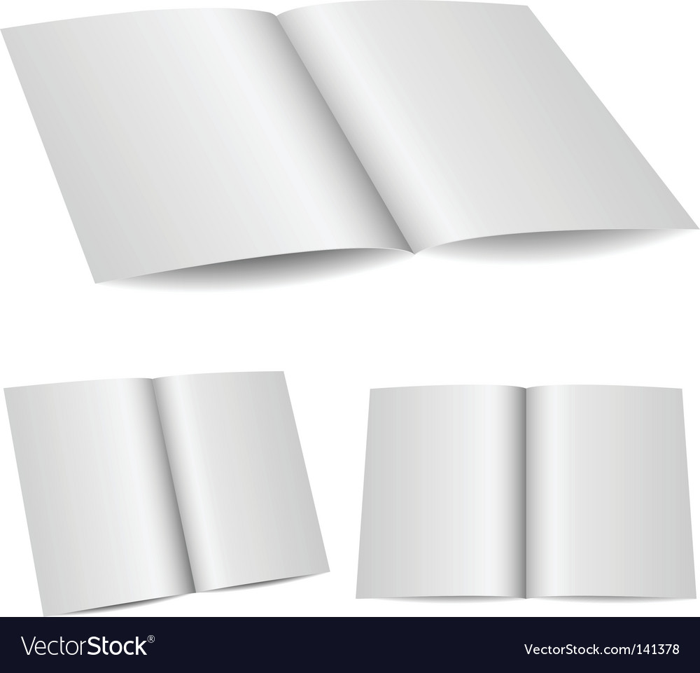 Blank opened folder vector | Price: 1 Credit (USD $1)