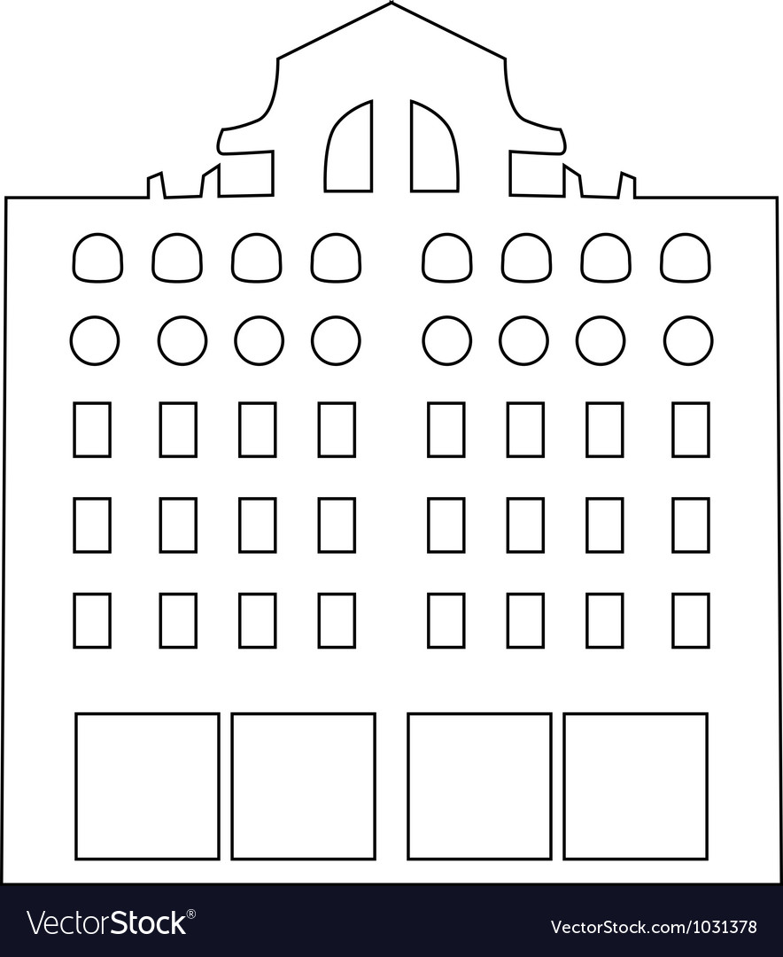 Contour building vector | Price: 1 Credit (USD $1)