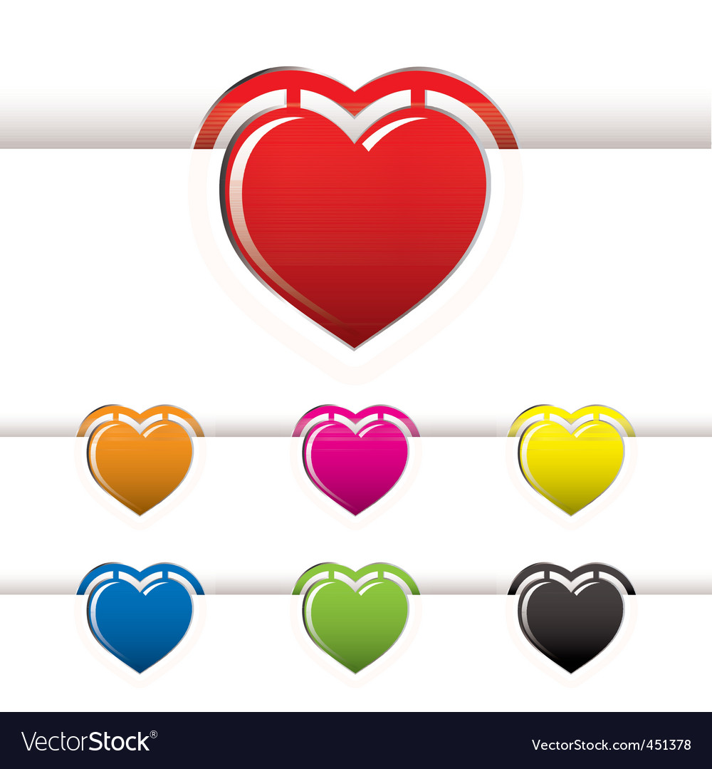 Heart book mark vector | Price: 1 Credit (USD $1)