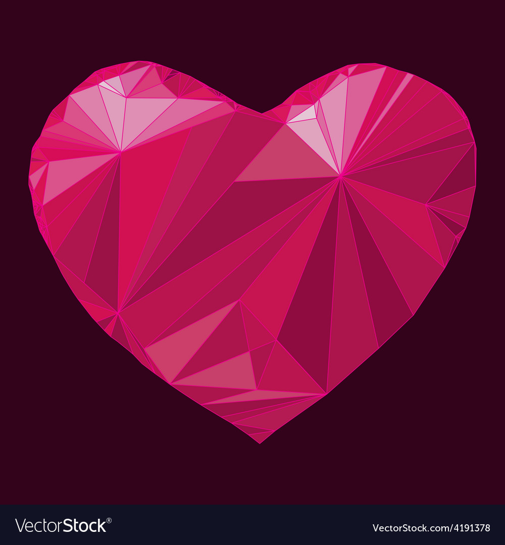 Heart origami vector | Price: 1 Credit (USD $1)