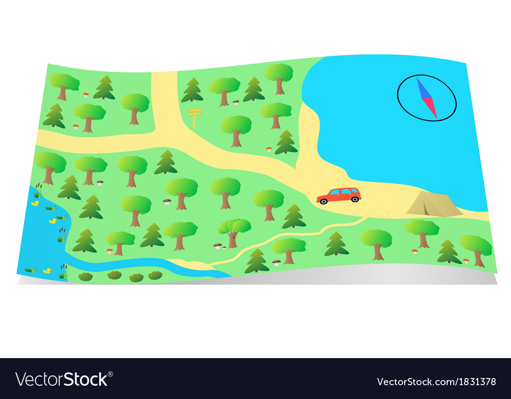 Map for tourists vector | Price: 1 Credit (USD $1)
