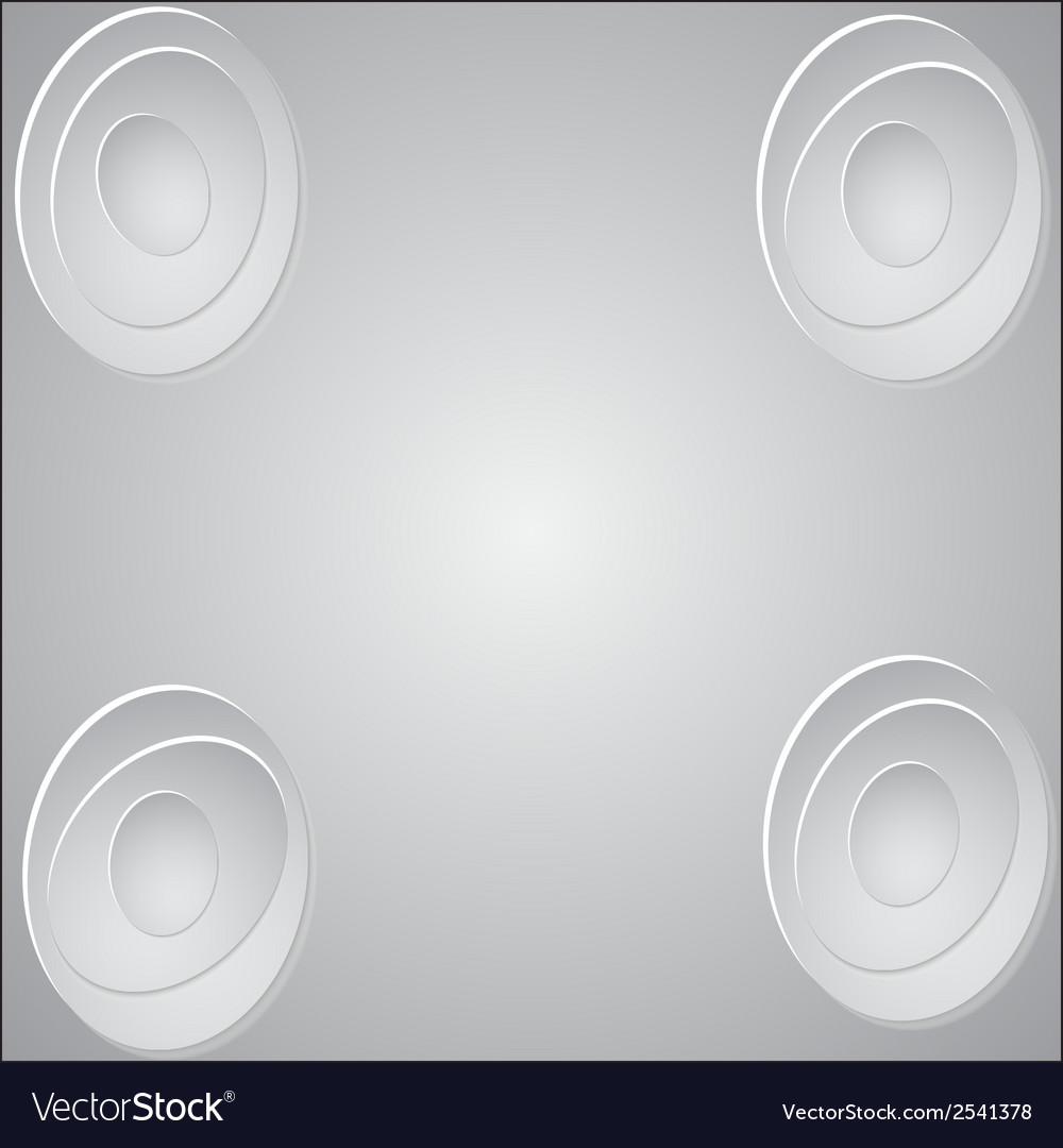 Paper circle banner with drop shadows vector | Price: 1 Credit (USD $1)