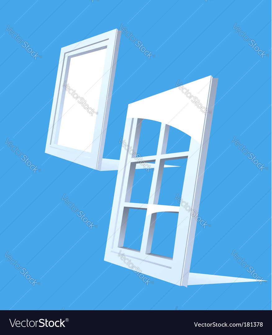 Perspective plastic window illustration vector | Price: 1 Credit (USD $1)