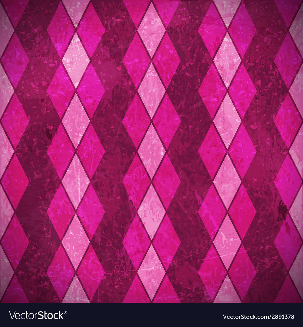 Pink purple rhombuses grunge background vector | Price: 1 Credit (USD $1)