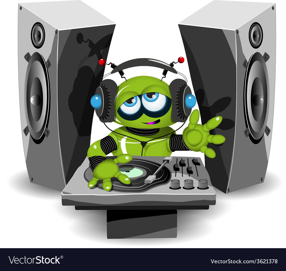 Robot dj vector | Price: 3 Credit (USD $3)