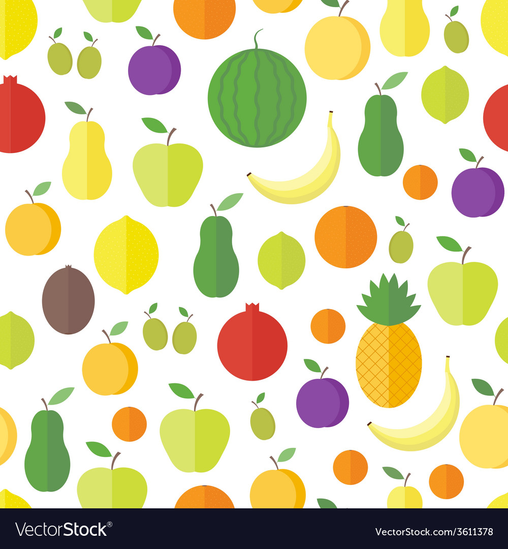 Seamless pattern with fruits and berries vector | Price: 1 Credit (USD $1)