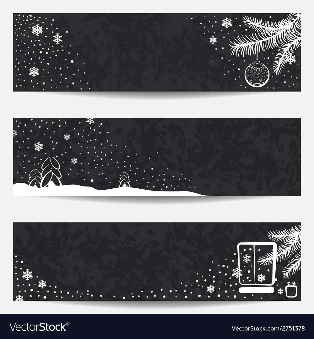 Set of three christmas banners vector | Price: 1 Credit (USD $1)