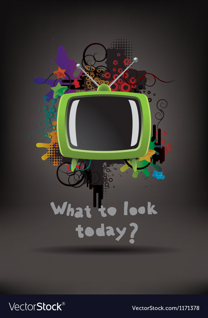 Television set background vector | Price: 1 Credit (USD $1)