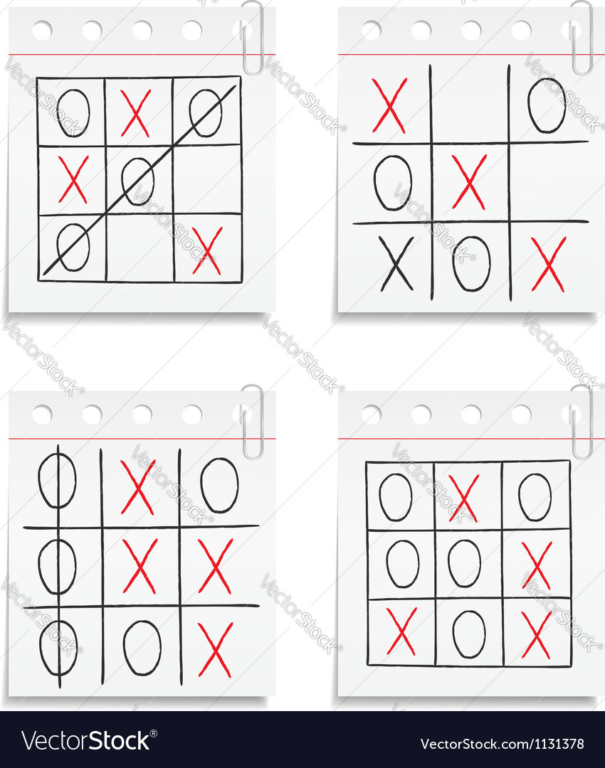 Tic tac toe game vector | Price: 1 Credit (USD $1)