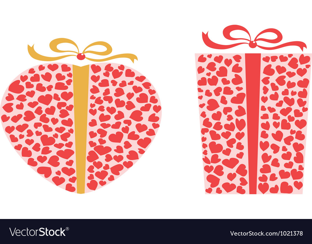 Valentines day gift box vector | Price: 1 Credit (USD $1)