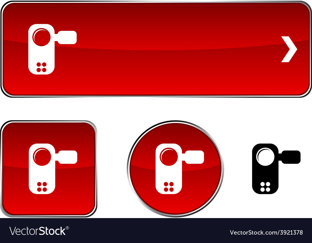 Video button set vector | Price: 1 Credit (USD $1)