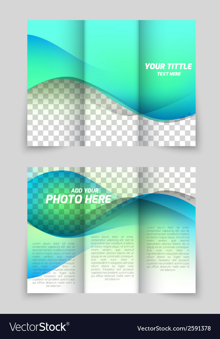 Wave aqua brochure vector | Price: 1 Credit (USD $1)