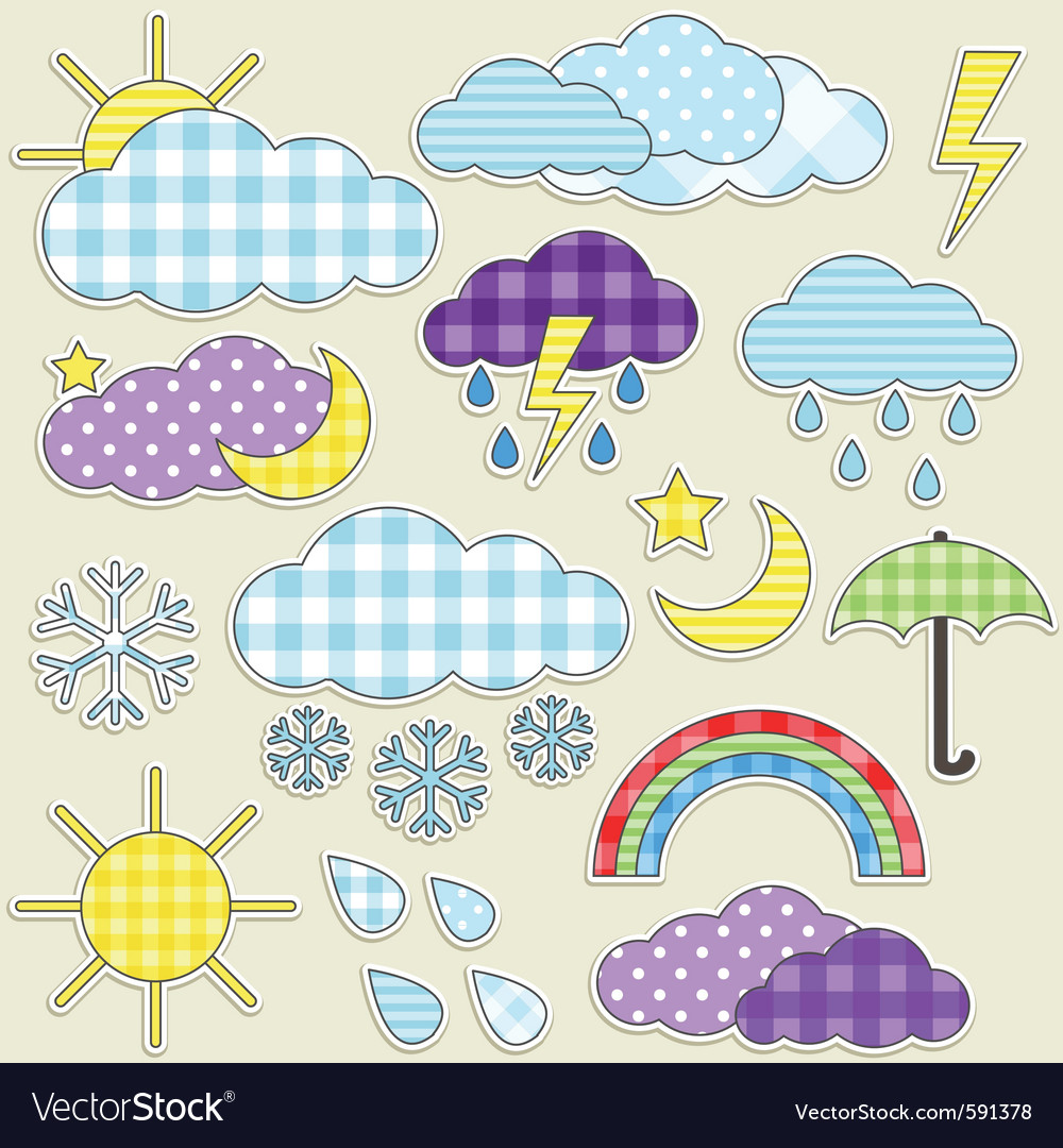 Weather stickers vector | Price: 3 Credit (USD $3)